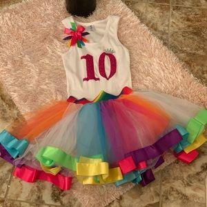 Girls 10th BIRTHDAY Shirt and Tutu